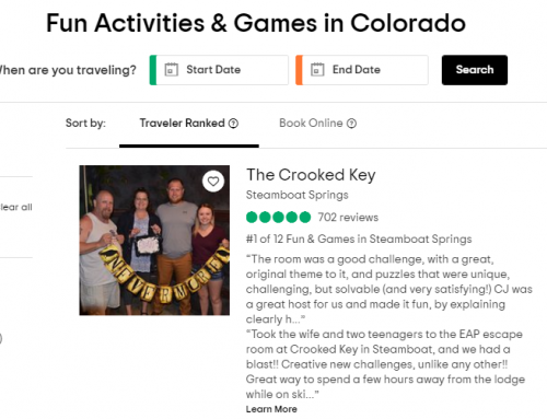 "The Crooked Key Makes TripAdvisor's ""Essential Colorado"" List"